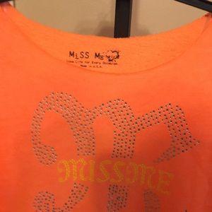 Miss Me Shirts & Tops - *CLEARANCE* Miss Me Girls Studded Logo Shirt